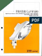 ITT American Electric Interstate Luminaire Series 185 & 186 Spec Sheet 11-80