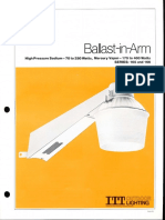 ITT American Electric Ballast-In-Arm Series 165 & 166 Spec Sheet 12-81