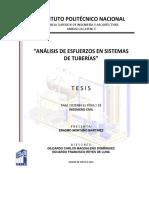 Análisis de Esfuerzos en Sistemas de Tuberías-Erasmo Montaño Martínez