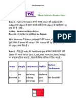 1.वाच्य About Active to Passive Voice