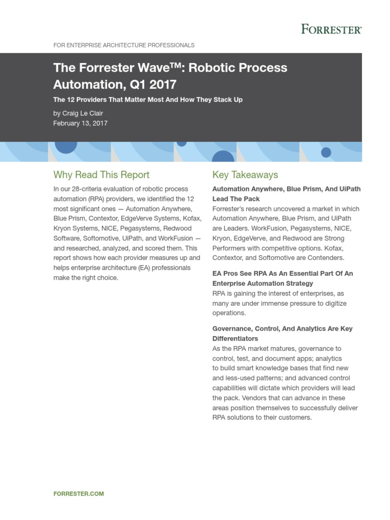 RPA pdf | Business Process Management | Artificial Intelligence