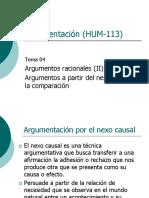 04 Argumentos Nexo Causal y Comparación