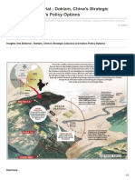 India, Bhutan vs China Doklam Plateau- Chumbi Valley