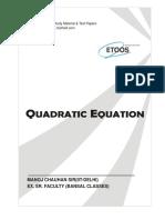 The Quadratic Equations Exercise KOTA