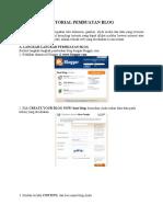 Tutorial Pembuatan Blog