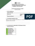 Ficha de Evaluación-externa