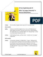 All Ears English Episode 23 What Ivy League University in America Really Means 1