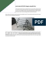 Cara Membuat Hidroponik Sistem DFT