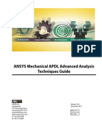 Mechanical APDL Advanced Analysis Techniques Guide - Ansys