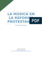 La música en la reforma protestante