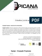 Ocupação Tropicana (Primeira edição)