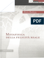 Alain Badiou Metafisica Della Felicità Reale