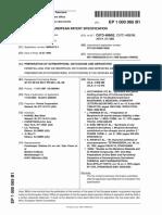 Preparation of Oxycodone, Oxymorphone & DerrivativesEP1000065A1