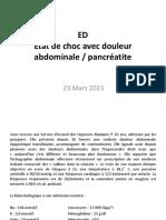 Choc et pancreatite aigue