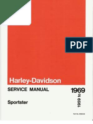 1959-1969 Harley Davidson Sportster Service Manual ... on