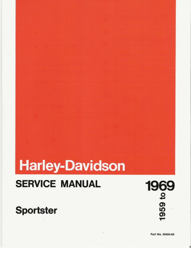 1959 1969 Harley Davidson Sportster Service Manual Ignition System Touring Throttle By Wire Jumper Harness Heated Grip Wiring Carburetor