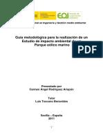 Guía metodológica para la realización de un Estudio de Impacto Ambienta de un parque eólico marino