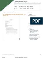 Granada Condo Homes Association Inc Fraud