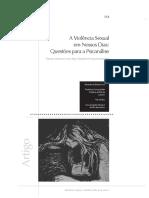 A Violência Sexual Em Nossos Dias - Questões Para a Psicanalise
