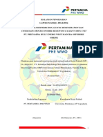 Analisa Gas Dehydration, Glycol Regeneratio, dan Condesate Process PT.  PHE WMO Pertamina hulu energi west madura offshore
