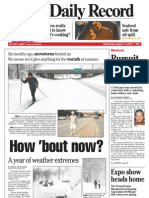 Front Page - York Daily Record/Sunday News, Aug. 11, 2010