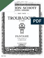 Briccialdi Fantasia Trovatre Piano Score