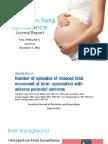 Antepartum Fetal Surveillance
