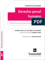 Zaffaroni Derecho Penal Humano - Promocion Hammurabi