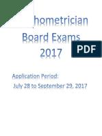 Psychometrician Board 2017