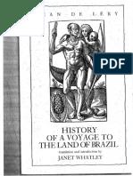 Léry, Jean de--History of a Voyage to the Land of Brazil.pdf