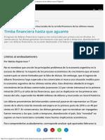Temas de Debate Las Causas Estructurales de La Corrida Financiera de Los Último