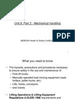 Unit 8 Mechanical Handling