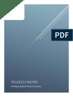 Tele3113 Notes