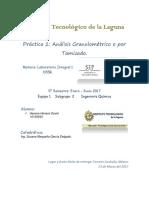 Práctica 2.- Análisis Granulométrico o Por Tamizado