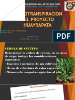 EVAPOTRANSPIRACION HUAYRAPATA
