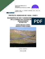 170627 Juridica-ecologia PROYECTO DERECHOS de AGUA – FASE II Escenarios_mauri_desaguadero