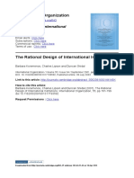 Koremenos2001 the Rational Design of international institutions