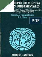 Kahn, El Concepto de Cultura. Textos Fundamentales (Introducción Sólo)