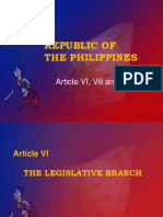 Republic of the Philippines (Art. 6,7, And 8)