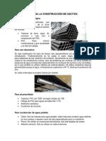 Materiales Para La Construcción de Ductos