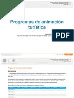 Lectura Proyecto de Animacion Turistica