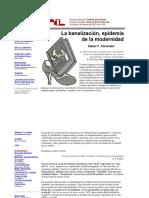 Coronado Xabier - Banalizacion Epidemia de La Modernidad (La Jornada)