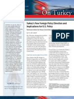 Turkey's New Foreign Policy Direction and Implications for U.S. Policy