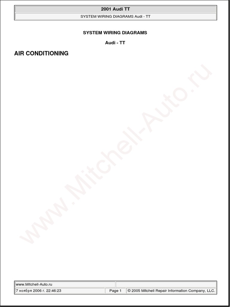 audi tt 2001 system wiring diagrams pdf rh scribd com audi tt wiring diagram download audi tt mk1 wiring diagram