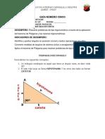 Teorema de Pitágoras Guia Cinco
