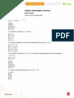 Evaluación unidad Álgebra y funciones 2° medio