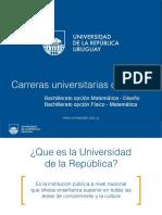 Con Bachilleratos Opciones Físico-matemática y Matemática-diseño 2016