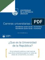 Con Bachilleratos Opciones Social-humanística Social-económica y Arte y Expresión 2016