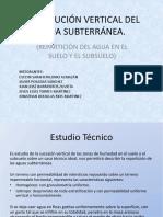 Distribucion vertical del agua subterranea