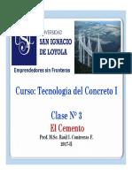 Clase 03 El Cemento